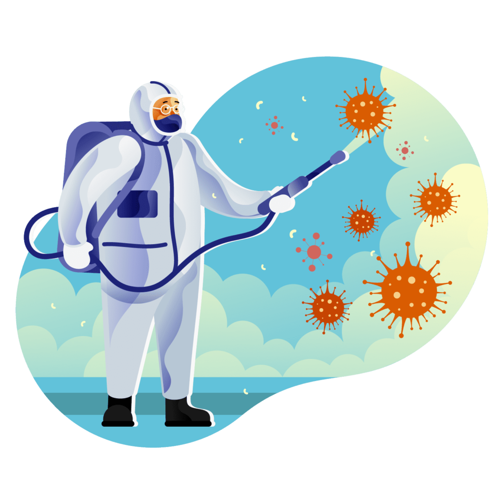 Virus and pathogen protection commercial cleaning Worcestershire
